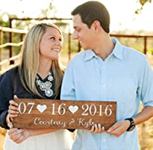 Handmade Wooden Rustic Wedding Date Sign, Wedding gift, Save the Date Photo Prop, Rustic Wedding Sign