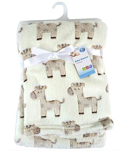 "\""First Steps\"" Luxury Soft Fleece Baby Blanket with Cute Giraffe Design 75 x 100cm for Babies from Newborn"