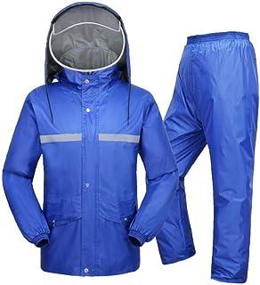 RYY Raincoats Rain Suit, for Men and Women Reusable Rainwear (Rain Jacket and Rain Pants Set), Adults Cycling Raincoat Hoo...