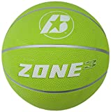 Baden Junior Zone Rubber Basketball, Indoor and Outdoor Ball, Lime Green, Size 3