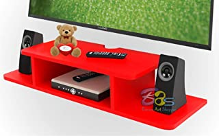 Brown Art Shoppee Set Top Box Stand Tv Unit for Living Room with Beautiful Design (Red)