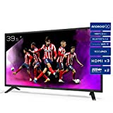 TD Systems K40DLJ12FS - Televisores Smart TV 39,5 Pulgadas Full HD Android 9.0 y HBBTV, 1100 PCI Hz, 3X HDMI, 2X USB....