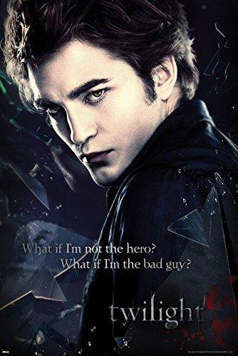 Beyonthewall Archive Twilight Edward Cullen报价吸血鬼戏剧浪漫幻想电影电影海报印刷24乘36(24x36未违数海报)