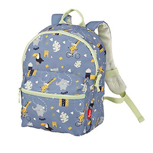 SIGIKID 25130 Rucksack Elefant Colori Mädchen und Jungen Kinderrucksack empfohlen ab 2 Jahren blau