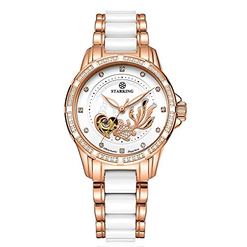Starking ceramica orologi da donna rose Gold AL0231 self-wind automatico...