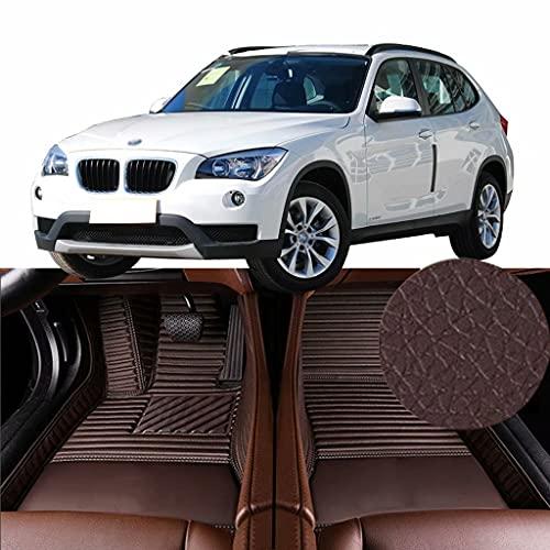 QCYP Alfombrillas para Coches Adecuado para BMW X1 sDrive18i (AT/Ajuste Manual del Aire Acondicionado/sin Crucero de Velocidad Fija) SUV de 5 Puertas y 5 plazas 2013 Alfombrillas de Auto,LHD