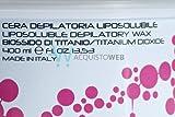 CERA LIPOSOLUBILE DEPILATORIA 400ML AL BIOSSIDO DI TITANIO