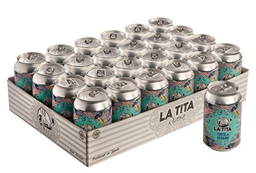 La Tita Tinto de Verano Lata - 24 latas x 330 ml