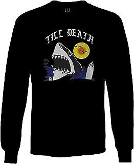 Front Shark Summer Vibe Cool Graphic Surf Till Death Society Long Sleeve Men`s
