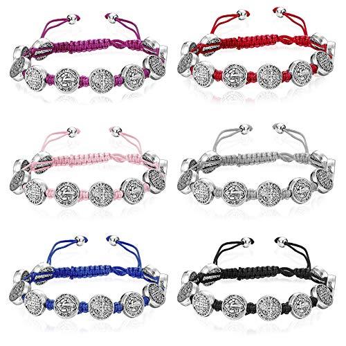 Finrezio 6 PCS Saint Benedict Cord Bracelets for...