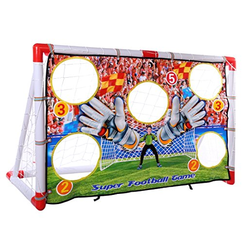 MRKE Faltbar Tragbar Fussballtor Kinder mit Torwand und Netz Fußballtore für Kinder Spielzeug, 120*50*73.5CM