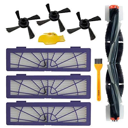 aotengou Vacuum Accessorier per Robot aspirapolvere Neato Botvac 75e 75 80 85 Parti di Ricambio 1 Spazzola Principale, 3 filtri Hepa, 3 spazzole Laterali, 1 Strumento di Pulizia