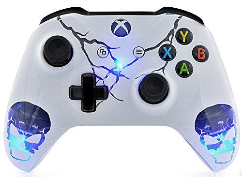 Skulls White Xbox One S UN-MODDED Custom Controller Unique Design (with 3.5 Jack)