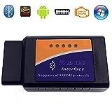 Ellenne  OBD-II ELM327 Auto Moto DIAGNOSTICA Reset Scanner Bluetooth OBD2 Compatibile con Android Windows