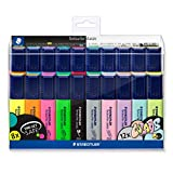 STAEDTLER 364 WP20. Rotuladores fluorescentes Textsurfer. Estuche con 20 marcadores de colores variados