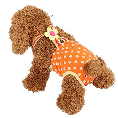 WNSC Perro Menstrual Perro Fisiológico 6 Tamaños Pantalones Sanitarios para Perros, Pantalones Sanitarios, para Perros Perros(#1)