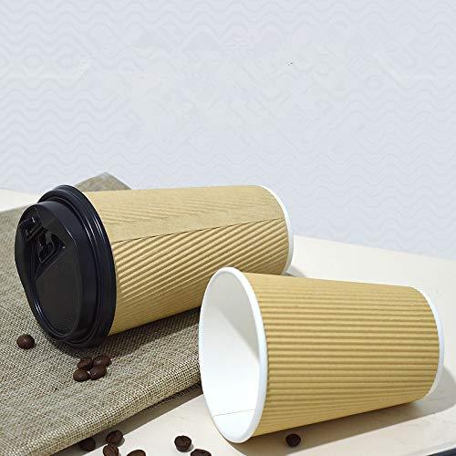 NIUPAN 50 dikke kraft papieren bekers wegwerp koffie water beker papier melk thee vruchtensap verpakking beker met deksel afhaalverpakking |wegwerp beker