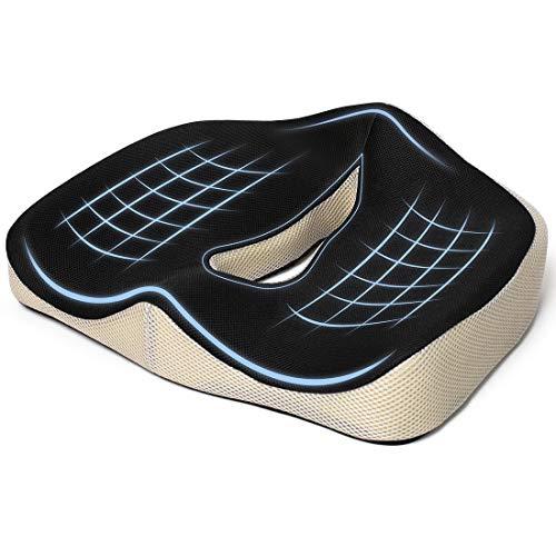 Seat Cushions Coccyx Cushions Orthopedic Cushions - Relieve Sciatica, Tailbone Pain - Memory Foam Cushion for Office Chair