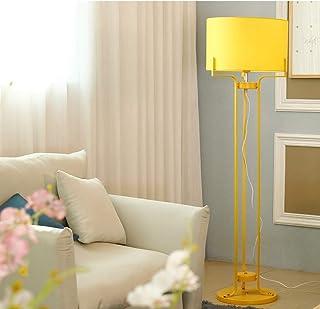 LJ Lampadaires modernes à LED, nordique bleu/vert/rose/jaune fer tissu éclairage décoration lecture plug-in lampadaire cré...