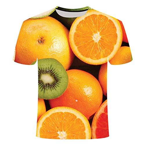 Fruit 3D Camisetas para Hombres y Mujeres Imprimir Verano Camisetas de Manga Corta Ropa Casual Tallas Grandes 6XL TXK09 M No