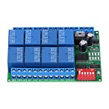 Current Monitoring Relays, DC 12V 8 Channel RS485 Relay Command Programmable Control Modul...