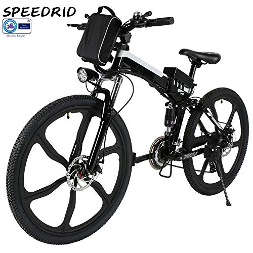 Speedrid 26/27.5 Electric Bike, Aluminum Alloy ebike with Removable 36V 7.8 Ah 10.4Ah Lithium-ion...
