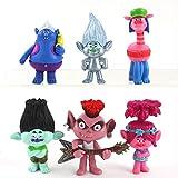 6 Unids Trolls 2 Figura De Acción Juguete Poppy Satin Chenille PVC Modelo Muñeca Navidad Regalo De C...