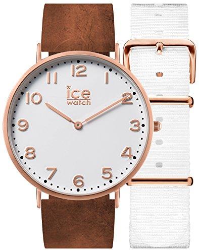 Ice-Watch - CITY Whitechapel - Women's wristwatch with leather strap + extra nylon strap - 001361 (Medium)