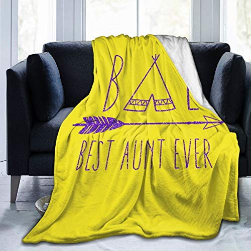 Tailing Best Aunt Ever Auntie Fleece Blanket Throw Blanket Fluffy Soft Plush for Couch Bed Sofa