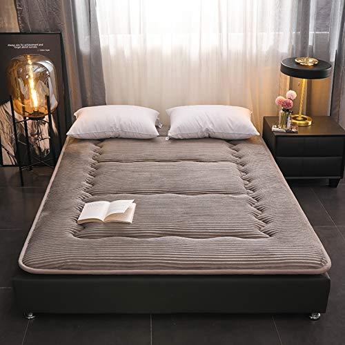 MPBYOU Roll Up Foodtress Topper Food,Flannel Japanese Floor Futon Foodtress,Futon Sleeping Pad Bed Roll,Foldable Foodt Tatami,Breathable Sleeping Pad