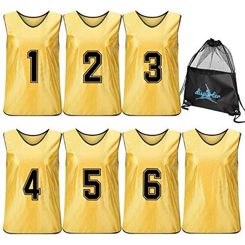 [disporter] ビブス 大人 フリーサイズ 12枚セット 6枚セット 無地付き 7色 30日保証 ゼッケン サッカー バスケ フットサル ジュニア準備中
