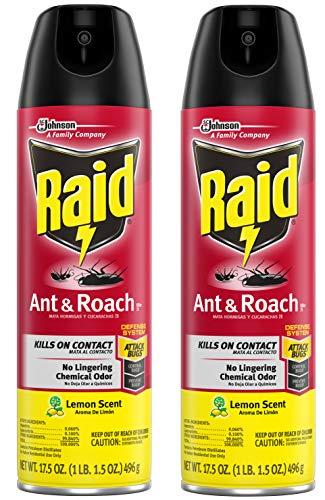 Raid Ant & Roach Killer Lemon Scent, 17.5 OZ (2)
