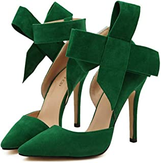 QIYUN.Z Womens Sexy Bow Tie High Heel Pumps Stiletto Party Dress Shoes