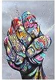 Poster Graffiti Kunst Leinwand Malerei Faust Inspirierende