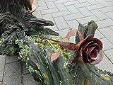 Edelrost-Rose Metall-Rose Rost-Rose Garten-Deko Länge ca. 35 cm