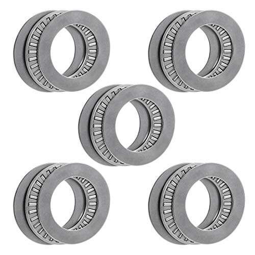 uxcell Tc1625 Needle Roller Thrust Bearings with Washers 1-inch Bore 1-9/16-inches Od 5/64-inch Width 11000rpm Limiting Speed 5pcs