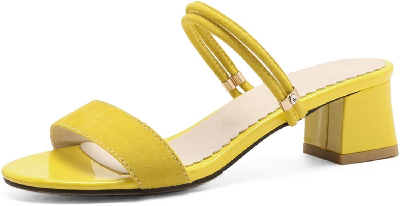 GIY Womens Strappy Low Heel Platform Slide Sandals Chunky Block Heel Fashion Pump Dress Wedges Sandals
