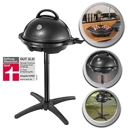 George Foreman Barbecue Grill 2000W, Utilisation Intérieur et Extérieur, 15 Portions - 22460-56