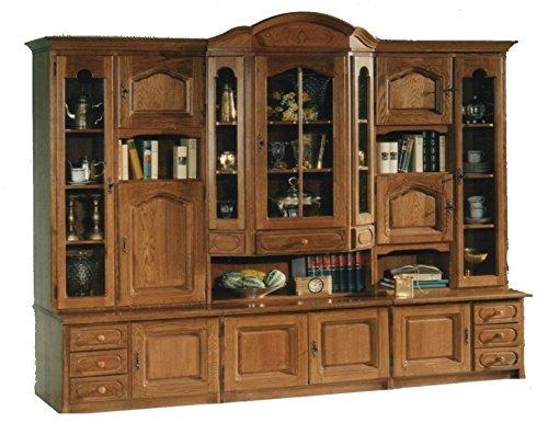 Xana-Möbel, mooie woonwand in eiken, rustiek/kastwand, aanbouwwand massief - vitrine