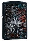 Zippo Classic Lighter-Harley Davidson Feuerzeug, Messing, Individual Design, Original Pocketsize