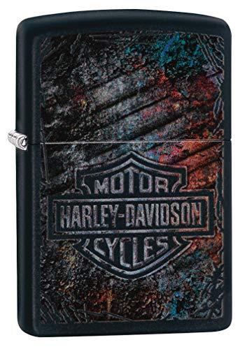 Zippo Classic - Accendino Harley Davidson, in ottone, design individuale, dimensioni tascabili
