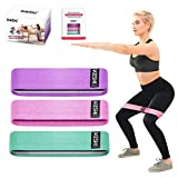 KeShi Fabric Resistance Band,3 Stretch Resistance Workout Booty Bands for Legs and Butt, Exercise Loops Activate Glutes and Thigh