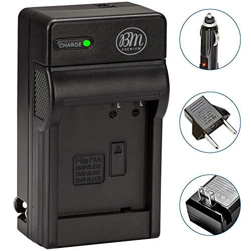 BM DMW-BLG10 Battery Charger for Panasonic Lumix DC-G100 DC-ZS80 DC-GX9 DC-LX100 II DC-ZS200 DC-ZS70 DMC-GX80 DMC-GX85 DMC-ZS60 DMC-ZS100 DMC-GF6 DMC-GX7K DMC-LX100K Cameras - DMW-BTC9 Replacement