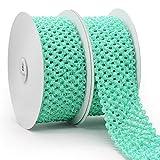 Elastic Headband Ribbon 55mm x 5 Yards x 2 Rolls.Decorative for DIY Crafts and Gift Wrapping - Aqua