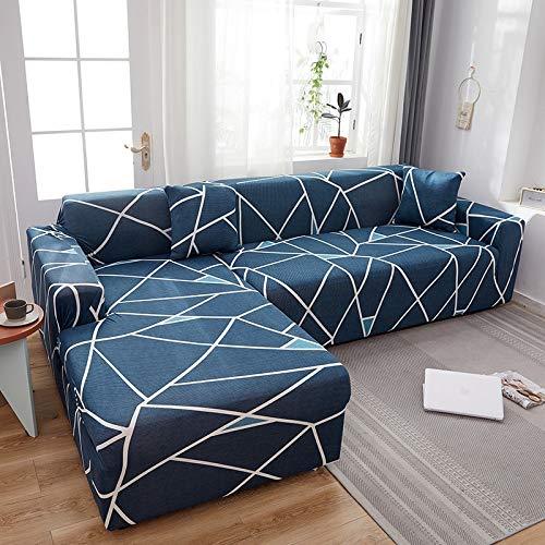 PPMP Muebles de Sala de Estar Funda de sofá de poliéster elástico Funda Protectora Funda de sofá sillón Funda de sofá A8 4 plazas