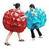 N/W - Bolas de burbuja hinchables para niños, bola de parachoques, pelotas de fútbol para niños (rojo + azul, 36 pulgadas)