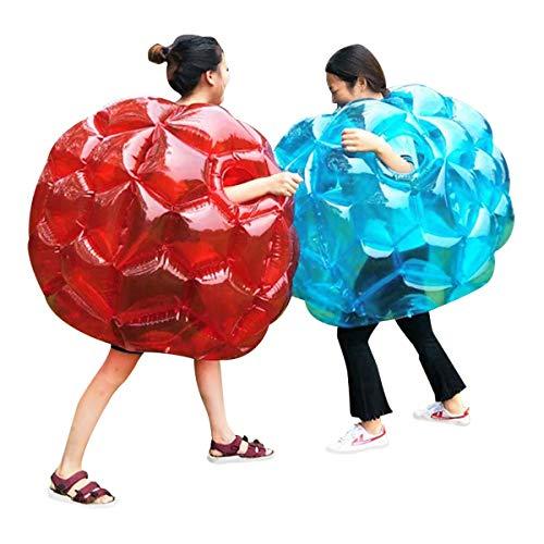N/W - Palline gonfiabili per bambini, palla da paraborto, palla da calcio per bambini, gigante, criceti, knocker, pallone per (rosso + blu, 36 pollici)