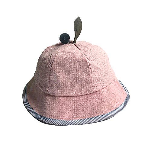 Vovotrade® Summer Tree Leaves Cute Baby Shade Fisherman Arbre d'Été Feuilles Mignon Bébé Ombre Pêcheur Cap Fille Garçon Seau De Loisirs Chapeau Bucket Hat (Pink)