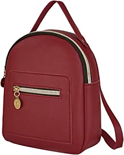 Tomepeia Women's Mini PU Leather Backpack Purse Casual Daypack Shoulder Bag