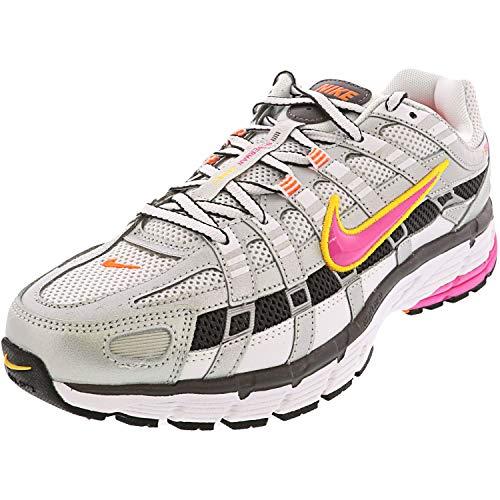 Nike W P-6000, Zapatillas de Atletismo Mujer, Multicolor (White/Laser Fuchsia/Mtlc Platinum 100), 43 EU